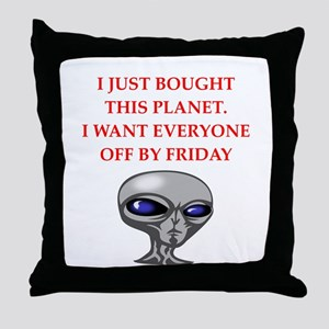 alien invasion Throw Pillow
