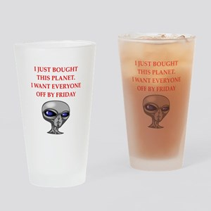 alien invasion Drinking Glass