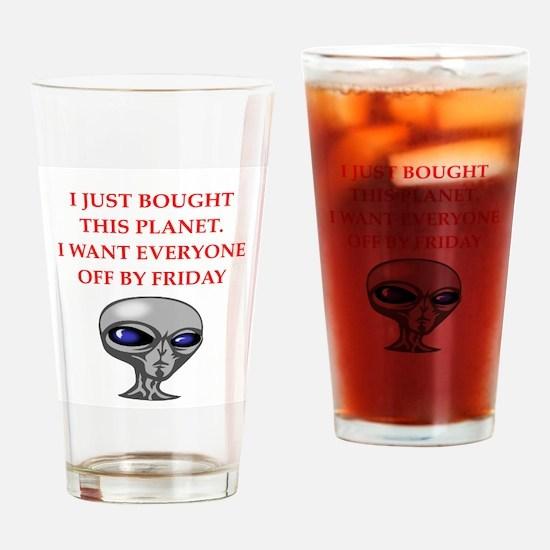 alien invasion Drinking Glass