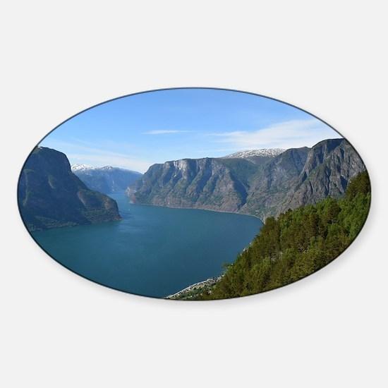 Unique Norwegian fjord Sticker (Oval)