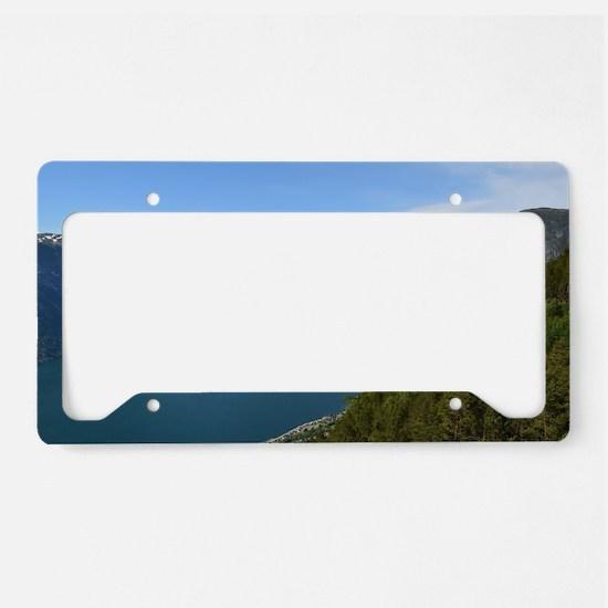 Funny Norwegian License Plate Holder