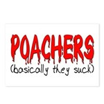 Poachers basically they suck Postcards (Package o