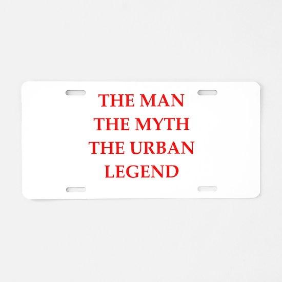 man Aluminum License Plate