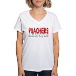 Poachers basically they suck Women's V-Neck T-Shi