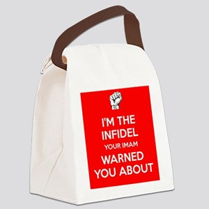 I'm The Infidel Canvas Lunch Bag