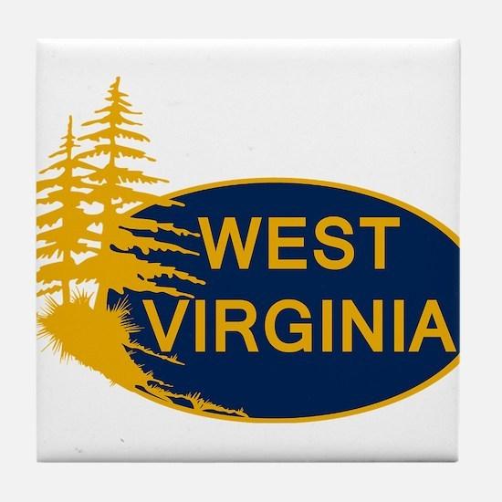 WVU Tile Coaster