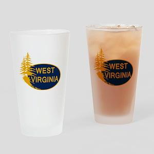 WVU Drinking Glass