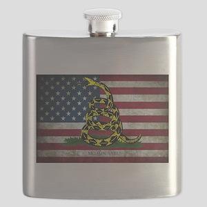 Molon Labe Flag Flask