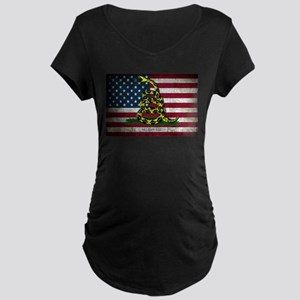 Molon Labe Flag Maternity T-Shirt