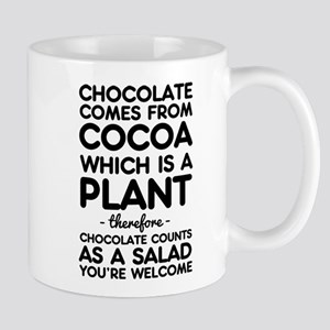 Chocolate comes from cocoa Mugs