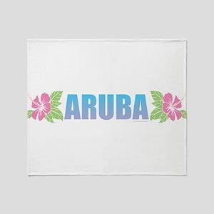 Aruba Design Throw Blanket
