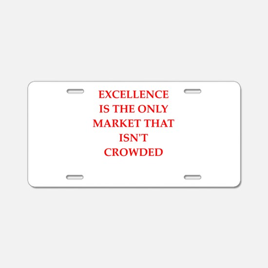 excellence Aluminum License Plate