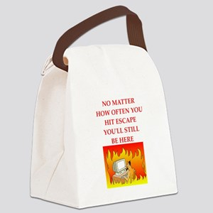 trapped Canvas Lunch Bag