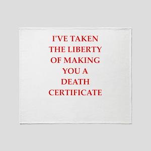 death Throw Blanket