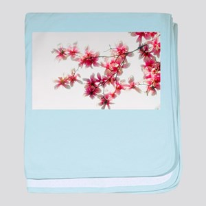 Magnolia blossoms baby blanket