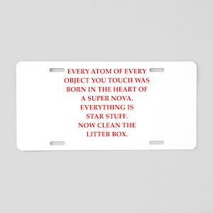 litter Aluminum License Plate