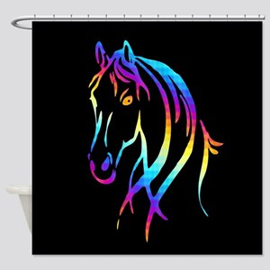 Colorful Horse Shower Curtain