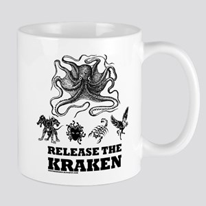 kraken and mythological beasts Mugs
