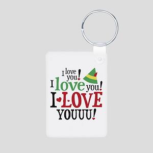 Elf I Love You Aluminum Photo Keychain