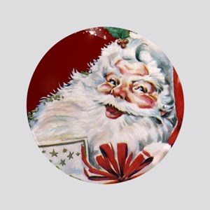 Vintage Santa Claus with many gifts Button
