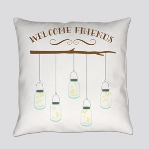 Welcome Friends Everyday Pillow