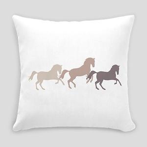 Wild Horses Running Everyday Pillow