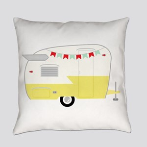 Vintage Camper Everyday Pillow