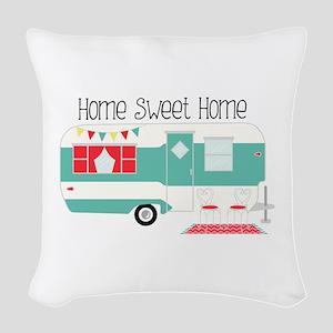 Home Sweet Home Woven Throw Pillow