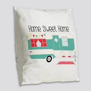 Home Sweet Home Burlap Throw Pillow