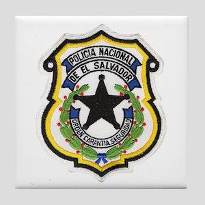 El Salvador Police Tile Coaster