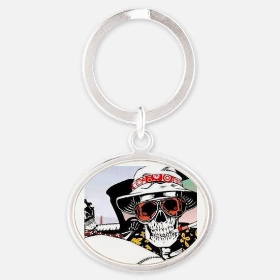 Funny Las vegas Oval Keychain