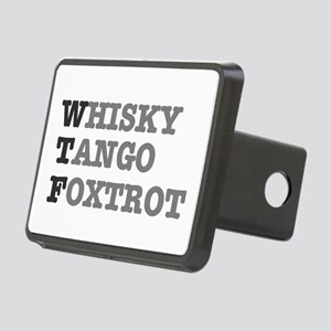 WTF - WHISKY,TANGO,FOXTROT Rectangular Hitch Cover