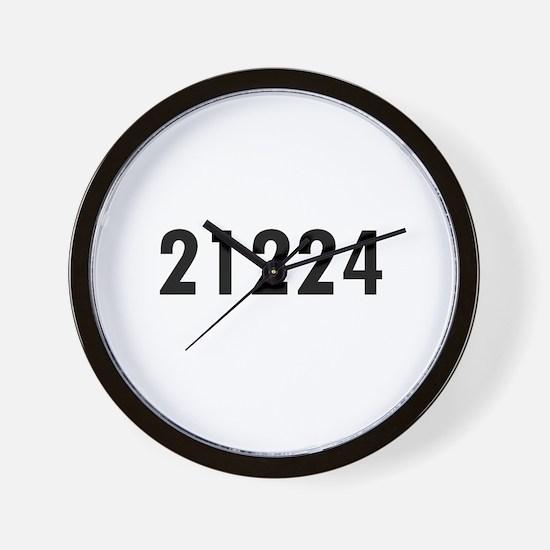 Cute Zip codes Wall Clock