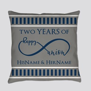 2nd Anniversary Infinity Couple Everyday Pillow
