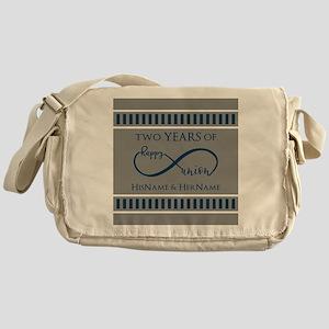 2nd Anniversary Infinity Couple Messenger Bag