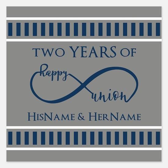 2nd Anniversary Infinity Co Invitations