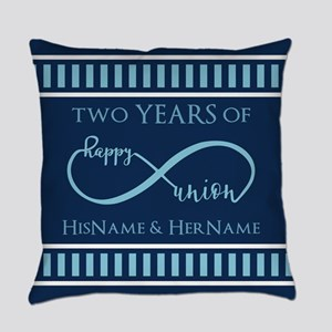 2nd Aniversary Celebration Gift In Everyday Pillow