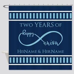 2nd Aniversary Celebration Gift Inf Shower Curtain