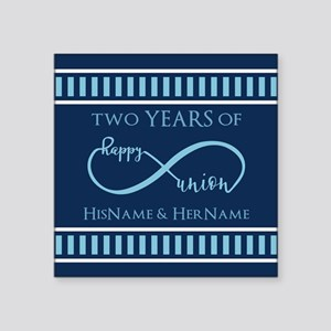 "2nd Aniversary Celebration Square Sticker 3"" x 3"""
