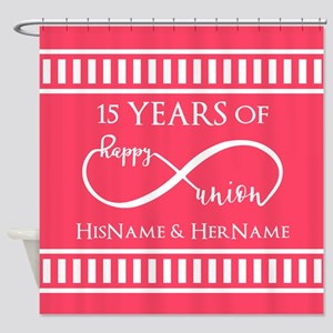 Personalized Any Number Anniversary Shower Curtain
