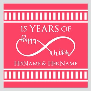 Personalized Any Number Ann 5.25 x 5.25 Flat Cards