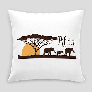 African Sunset Everyday Pillow