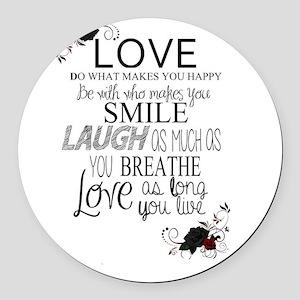 Love Round Car Magnet