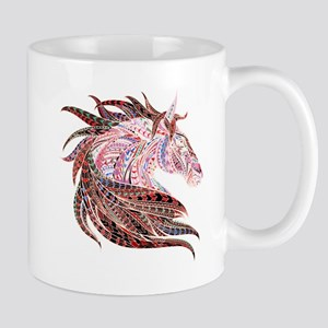 Horse Drawing in Pinks Mugs