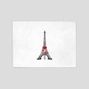 Larmes de sang sur Paris un vendred 5'x7'Area Rug
