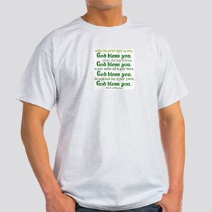 Irish Blessing--God Bless You Ash Grey T-Shirt