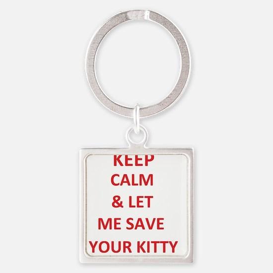 save kitty Keychains