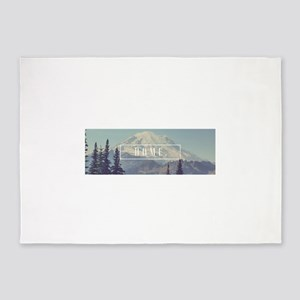 Mt. Rainier 5'x7'Area Rug