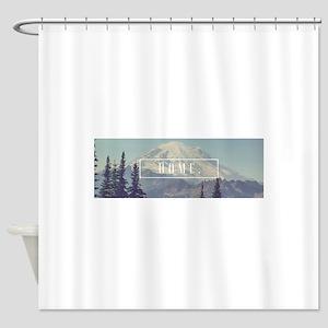 Mt. Rainier Shower Curtain