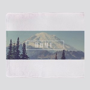 Mt. Rainier Throw Blanket